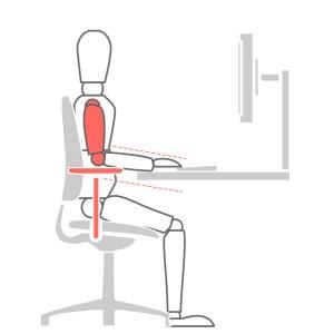 How to sit at a desk properly - Adjustable Armrests Problem