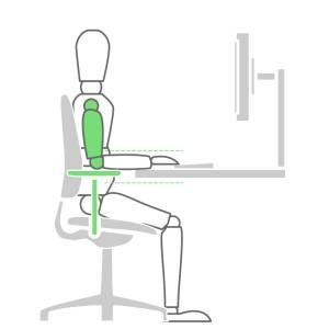 How to sit at a desk properly - Adjustable Armrests Solution