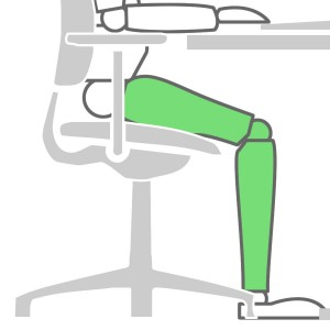How to sit at a desk properly - Seat Depth Solution
