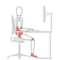 How to sit at a desk properly - Seat Height problem