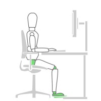 How to sit at a desk properly - seat height solution