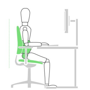 How to sit at a desk properly - Backrest Height Solution
