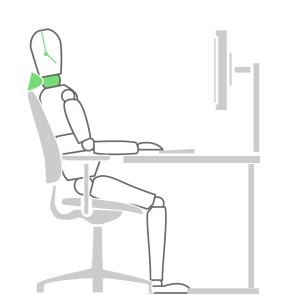 How to sit at a desk properly - Headrest Solution