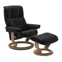 Stressless Mayfair Recliner Chair & Footstool - Batick Leather and Classic Base