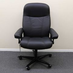 Stressless Consul Office Chair, Black Leather - Showroom Model