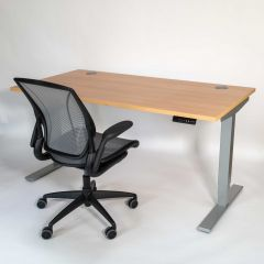 Liike Sit-Stand Desk & Humanscale Diffrient World Chair Bundle