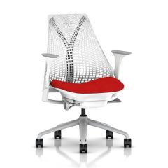 Herman Miller Sayl Chair - All White, Red